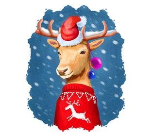 dde7fc2d908dc9 Lustige Weihnachtspullover für Männer Frauen und Kinder - Logo Rentier.jpg